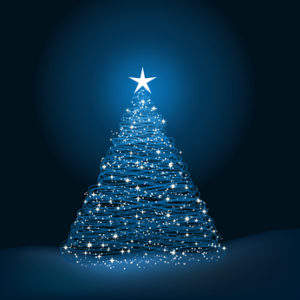 Sparkly Christmas tree background